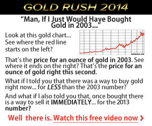 GOLD RUSH STILL ON – SECURE YOUR FINANCIAL FUTURE -FREE LOTTO